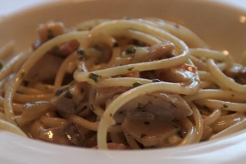 Spaghetti porcini (met eekhoorntjesbrood)...