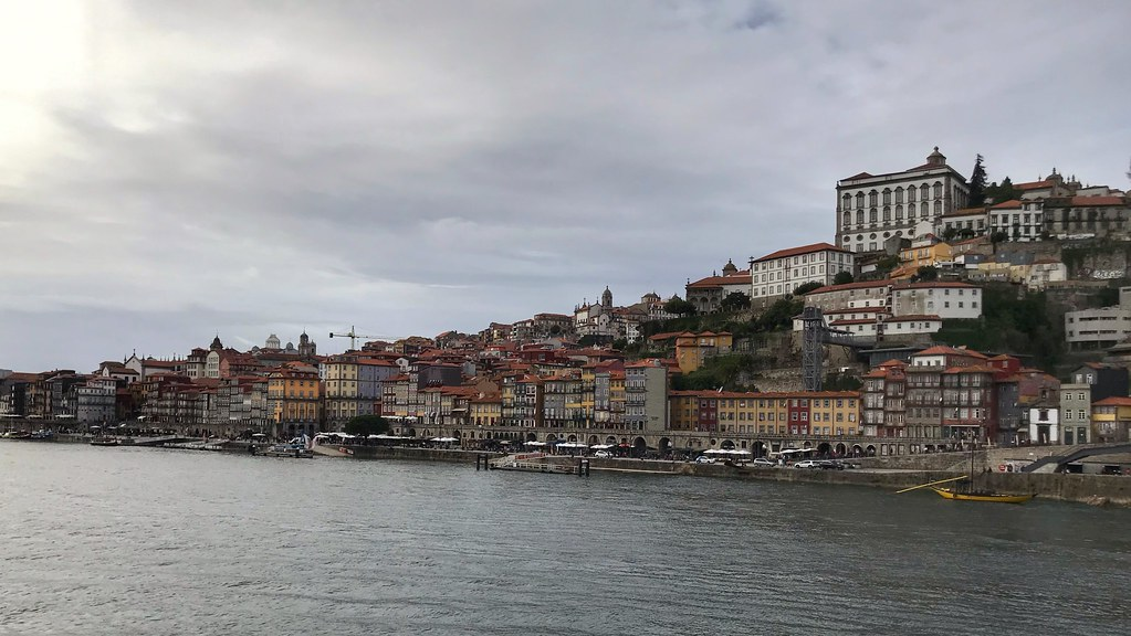 Porto coastline from across the Douro River