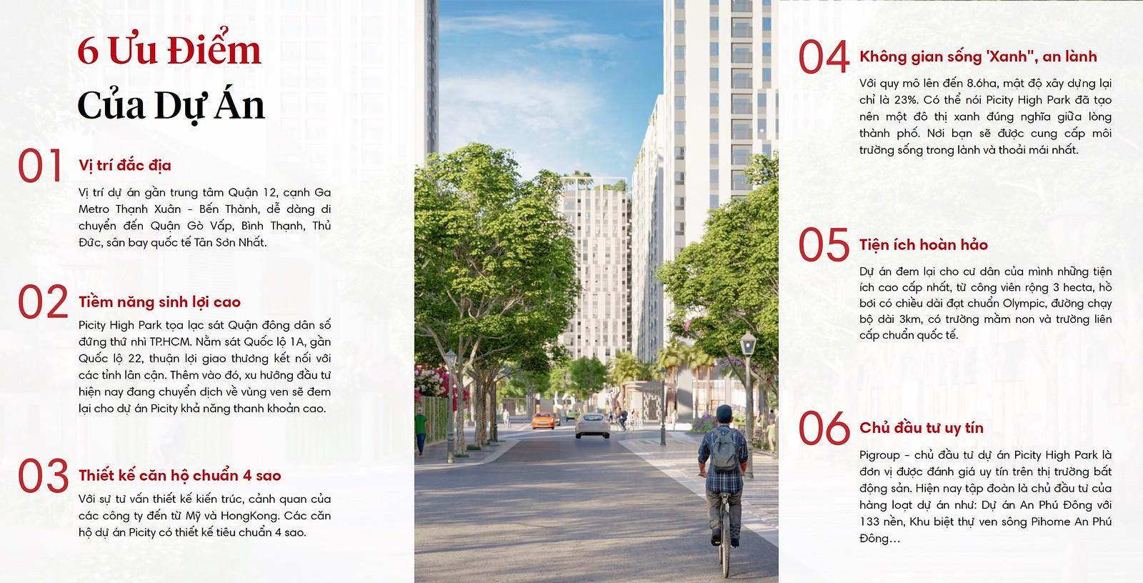 6 ưu điểm nổi bật của Picity High Park