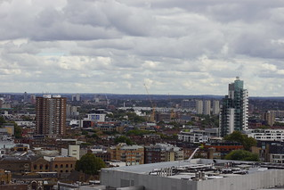 Surrey Downs and South East London, from Blavatnik Building, Tate Modern, Bankside, Borough of Southwark, London