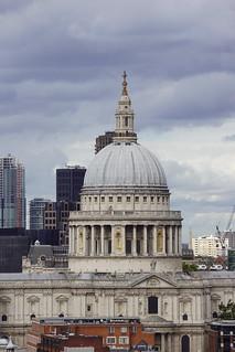 St. Pauls Cathedral, Sir Christopher Wren (Architect), from Blavatnik Building, Tate Modern, Bankside, Borough of Southwark, London (5)