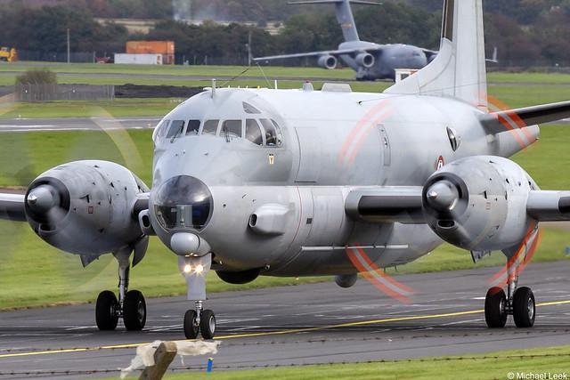 Aéronavale (French Marine) Breguet Br.1150 Atlantique ATL2 No 28; Glasgow Prestwick Airport, Scotland