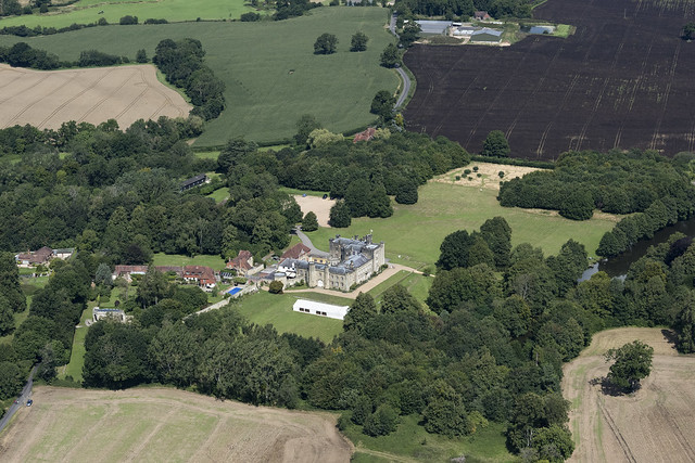 Chiddingstone Castle aerial image