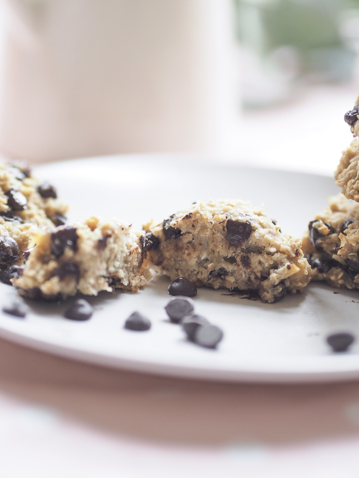 two ingredient banana and oat cookies
