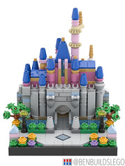 Micro Lego Sleeping Beauty Castle