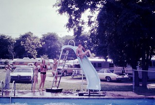 Found Photo - Teenagers at Pool