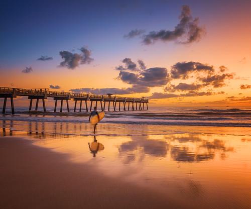florida jacksonvillebeach sunrise surf pier fishingpier jaxbeach