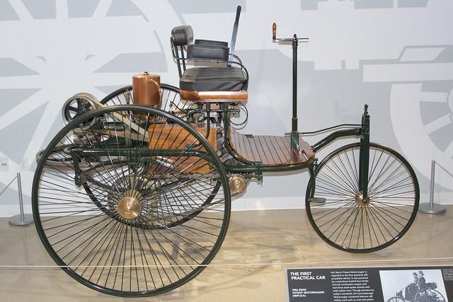 Petersen Auto Museum. Benz Patent Motorwagen first practical autombile DSC_0562