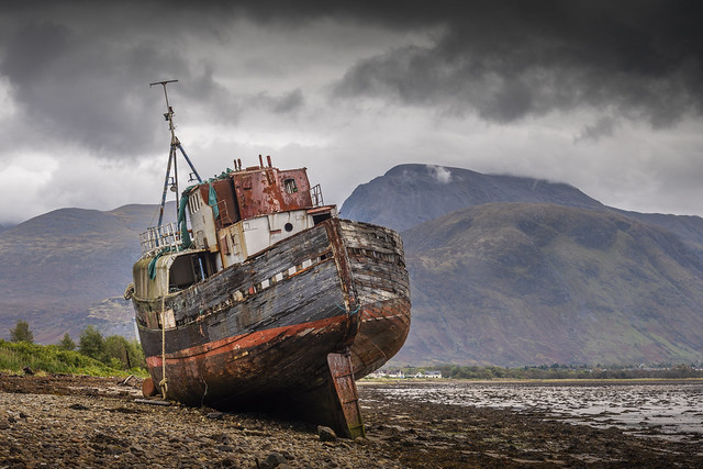 Corpach Wreck, near Fort William.