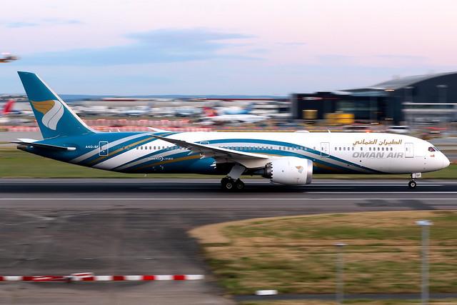 Oman Air   Boeing 787-9   A4O-SF   London Heathrow
