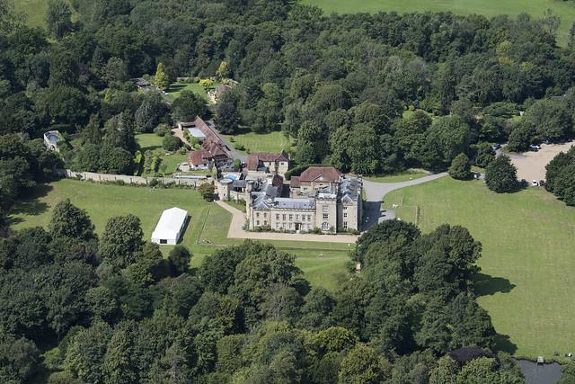 Chiddingstone Castle aerial image