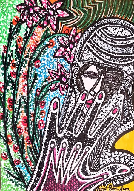 Arte moderno israeli hamsa artista judia latina Mirit Ben-Nun