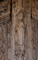 C15 south door: Assumption of the Blessed Virgin