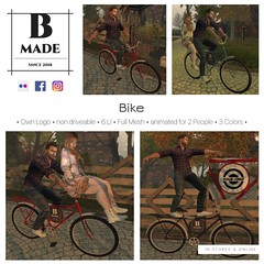New Release on Cosmopolitan Events  ✔ 6 LI ✔ Animated for 2 People ✔ Full Mesh ✔ 3 Colors [Red, Blue & Black] ✔ For Own Logo Teleport: http://maps.secondlife.com/secondlife/No%20Comment/110/19/22  - Driveable Version updated soon