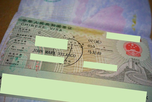 Double entry Chinese tourist visa