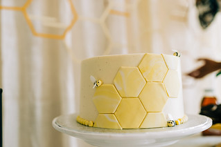 Bee Themed Baby Shower and a Beautiful Bee Baby Shower Cake | by Get Kamfortable