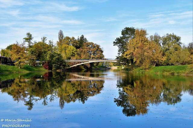 Karlovac, Karlovac County, Croatia - Autumn colors on river Korana again :)