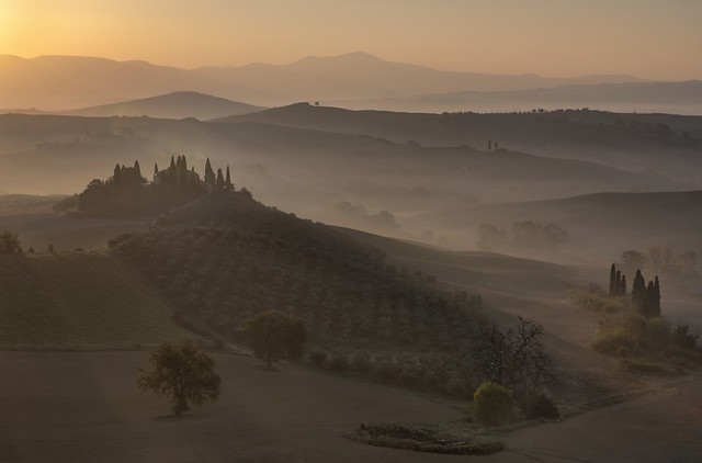 *Golden hour at the Podere Belvedere*