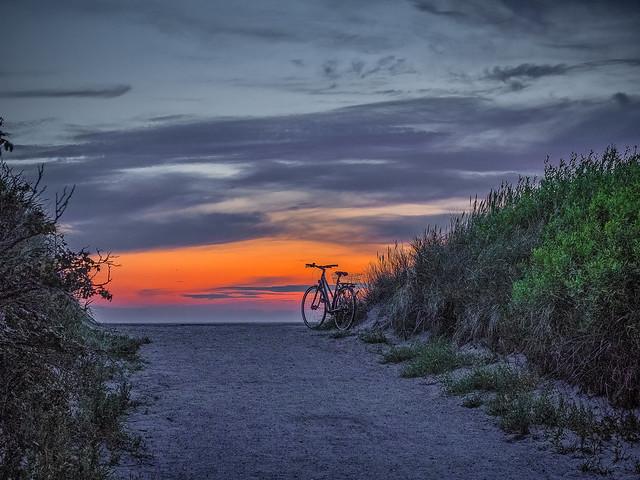 last bike on the beach
