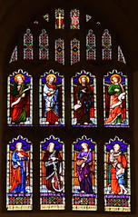Four Evangelists with Faith, Hope, Mercy and Charity (O'Connors, 1876)