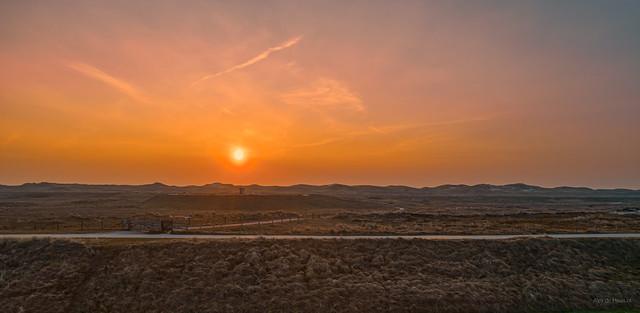 Sunset over the dunes near Groote Keeten.