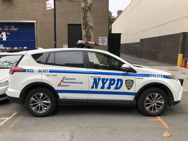 NYPD 84 Precinct Toyota RAV 4 Hybrid RMP #4022.