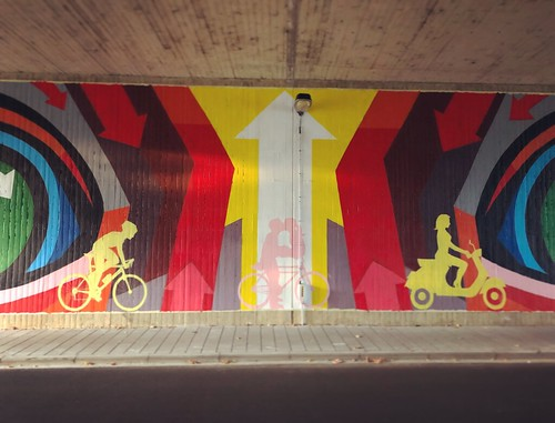 Streetart under the bridge @ Oude Baan Leuven