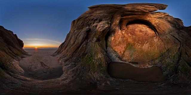 The Shrine Sunset 360º Panorama