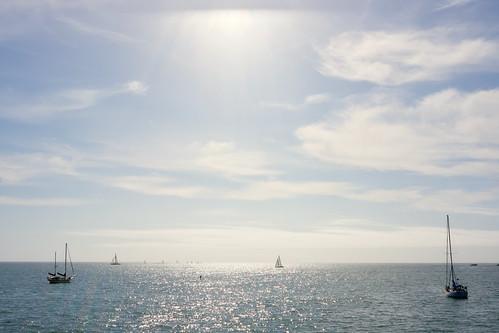 standing amongst the sailors