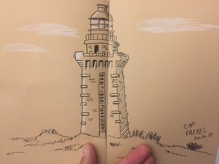 Cap Frehel in Bretagne (new drawing test with only black and white)