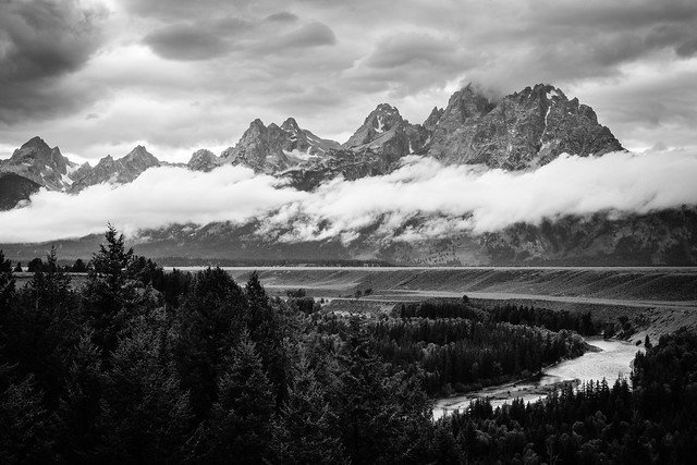 The Tetons on a stormy afternoon, Grand Teton National Park. September, 2019.