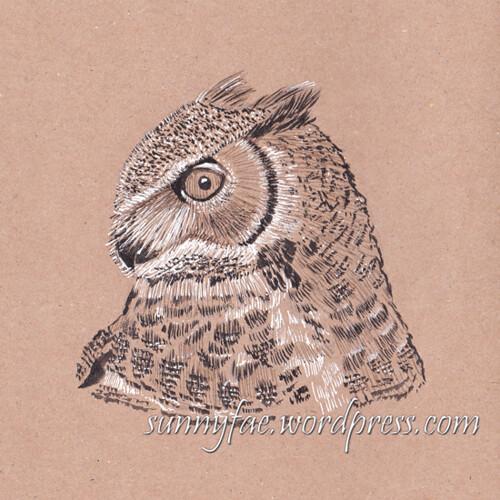 15 horned owl