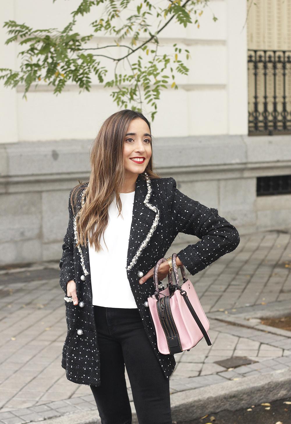 survêtement veste survêtement sac jeans noir street style costume 20198