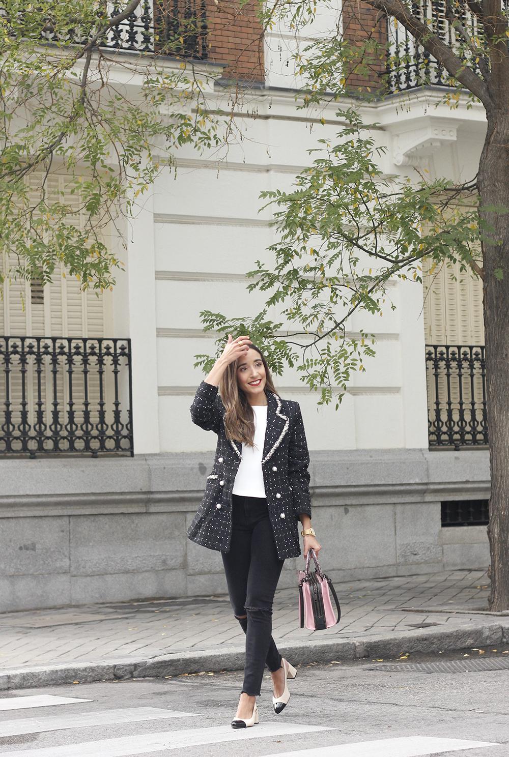 survêtement veste sac de survêtement jeans noir street style costume 20195