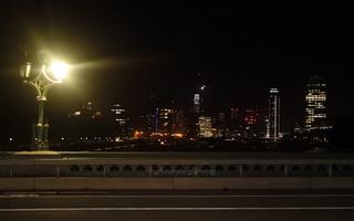 London buildings by night