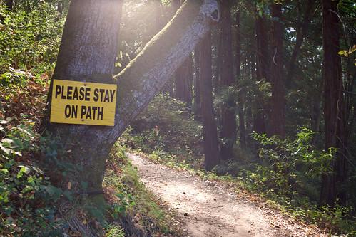 "cliché ""stay on path"" path pic"