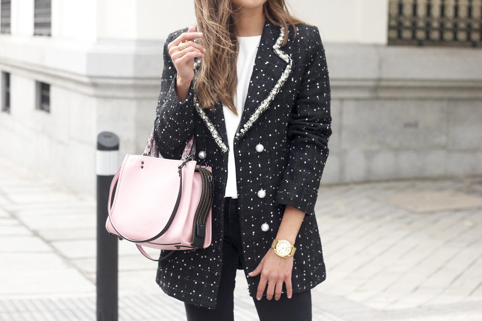 survêtement veste survêtement sac jeans noir street style costume 201910