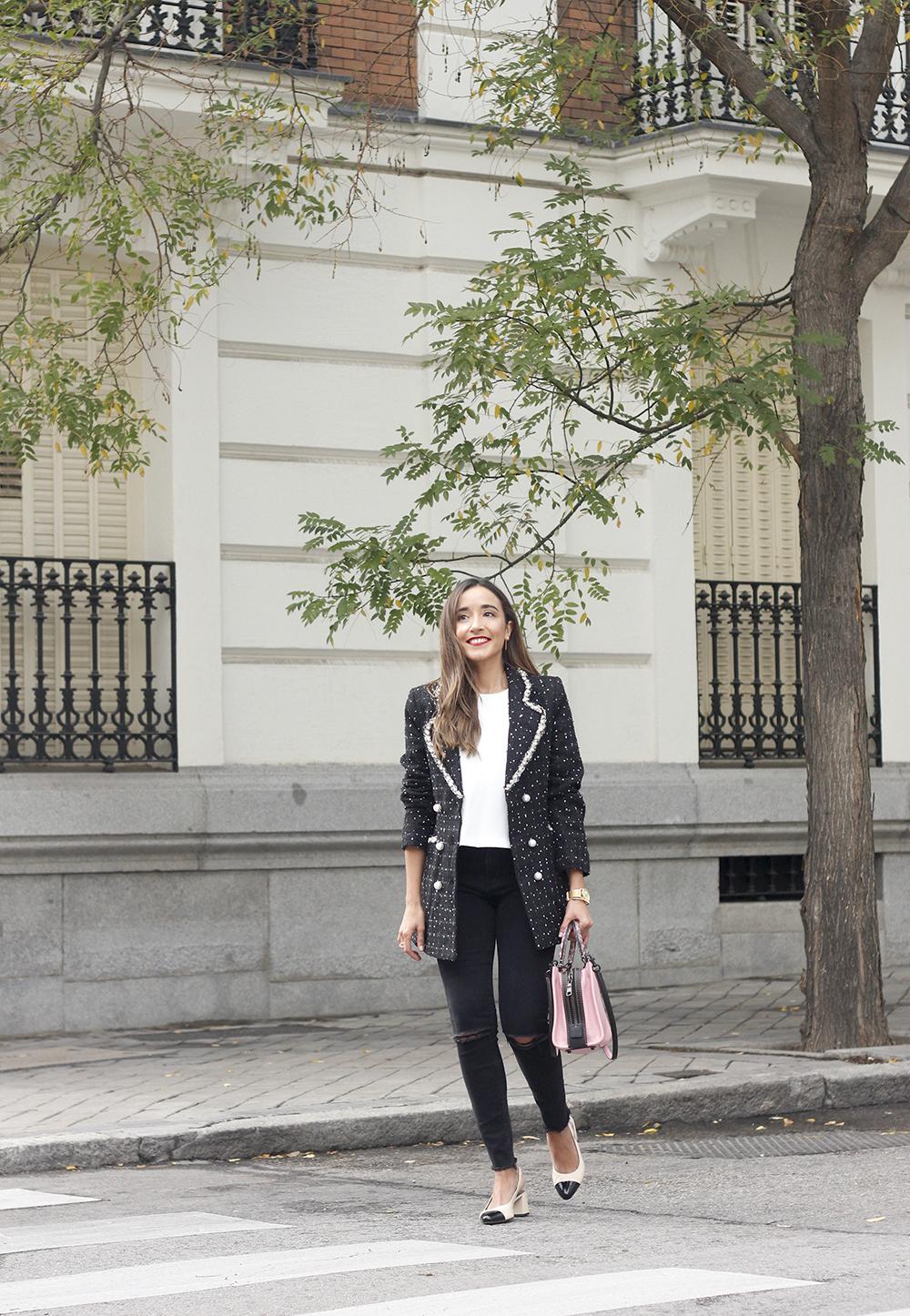 survêtement veste survêtement sac jeans noir street style costume 20194
