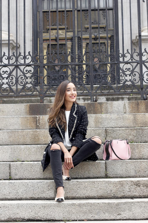 survêtement veste survêtement sac jeans noir street style costume 20192