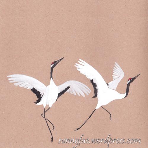 20 dancing cranes