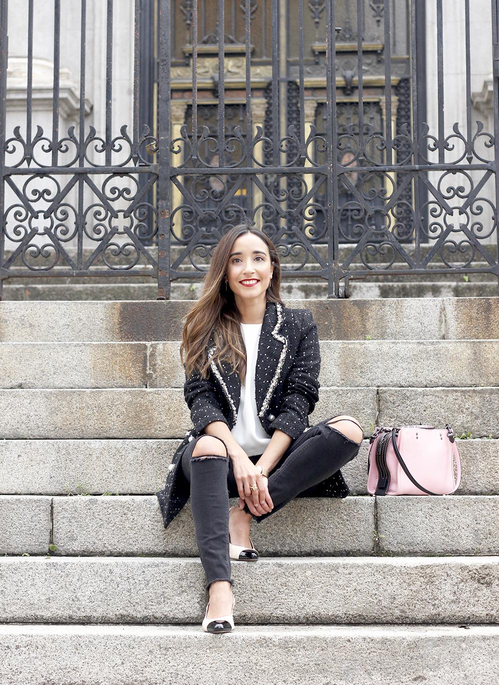 survêtement veste survêtement sac jeans noir street style costume 20191