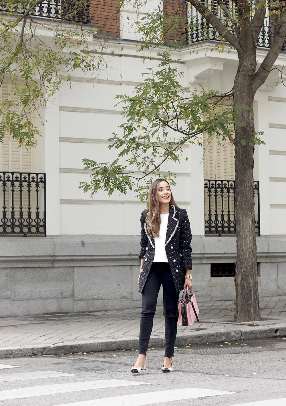 survêtement veste survêtement sac jeans noir street style costume 20196