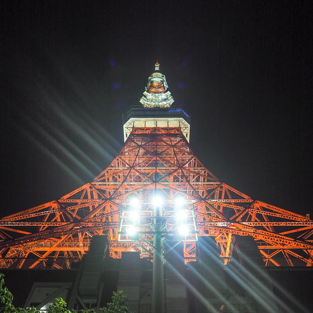 Tokyo Tower with 7 diagonals