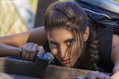 Christine as Lara Croft
