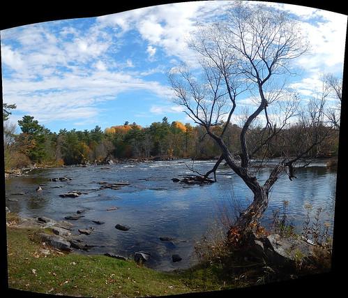pano panorama autostitch mississippiriver lanarkcounty ontario canada water outdoor rural nikon clouds