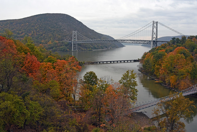 Picture Of Bear Mountain Bridge Taken In Highland Falls, New York In Orange County With The Changing Color Of The Tree's. Photo Taken Sunday October 20, 2019