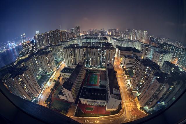 No protests in this part of Hong Kong