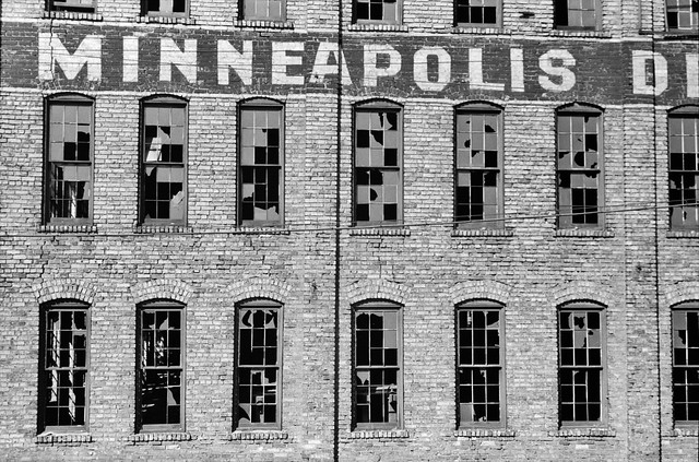 Rise & Fall: Abandoned factory in Minneapolis, Minnesota, October 1939.