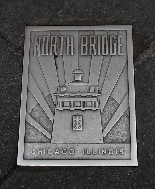 North Bridge Sidewalk Plaque, Chicago