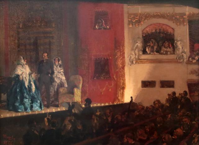 Adolph Friedrich Erdmann von Menzel (Breslavia, 8 dicembre 1815 – Berlino, 9 febbraio 1905) - Théâtre du Gymnase in Paris  (1856) - Alte Nationalgalerie, Berlino